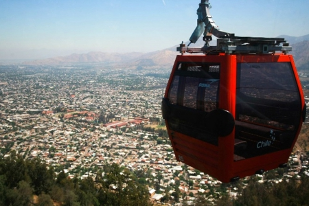 The city of Santiago is bringing back ropeway transportation